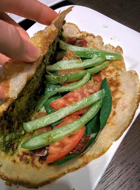 Tortilja s pestom i špinatom